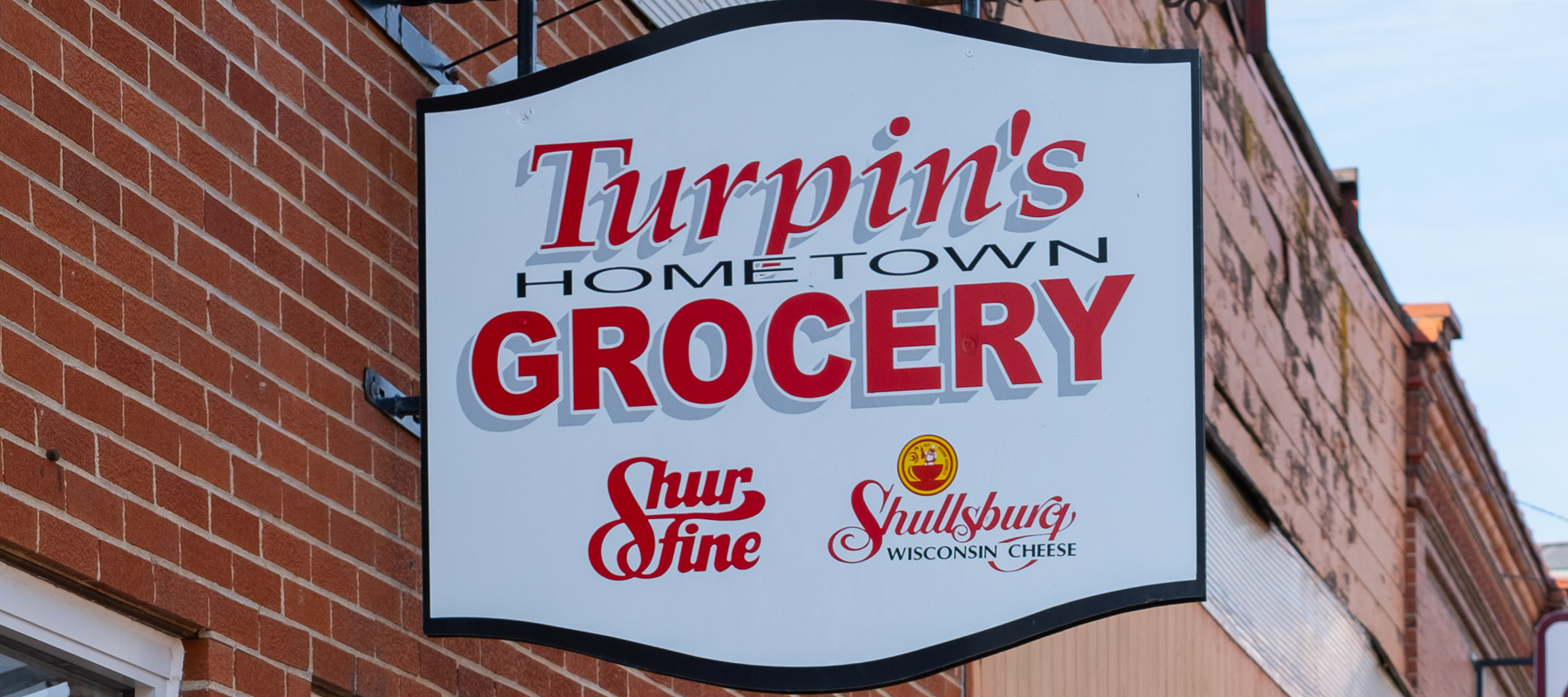 Turpin's Hometown Grocery sign
